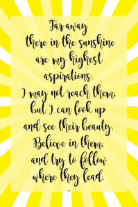 Inspirational Home Decor Poster Sunshine Yellow