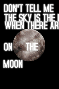 Inspirational Moon Quote Poster template