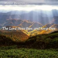 Inspirational - Mosaic Blessings Slideshow Instagram-opslag template