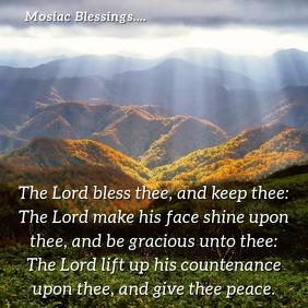Inspirational - Mosiac Blessings Instagram Plasing template