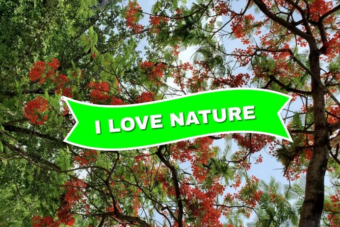 Inspirational Nature Background Tatak template