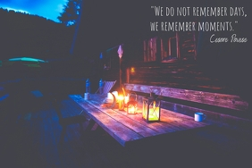Inspirational poster about moments