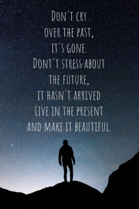 Past and present quote design Poster template