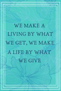 Inspirational Quotes poster ภาพกราฟิก Pinterest template