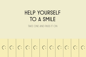 Inspirational smile printable tear off tabs