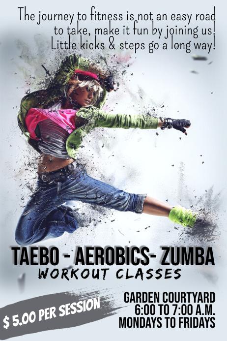 Taebo, Aerobics & Zumba Fitness Template