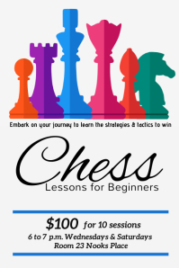 chess lessons template