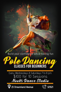 pole dancing classes template