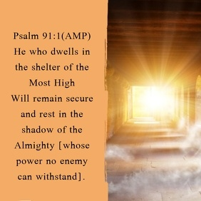Inspirational Template Psalm 91:1