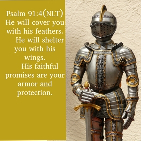 Inspirational Template Psalm 91:4