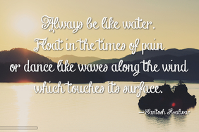 Inspirational Water Summer Beach Lake poem poster