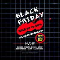 Inst Black Friday Sale Flyer template post