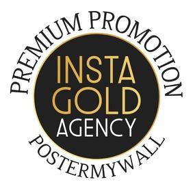 Insta Promo Gold Gradient Logo