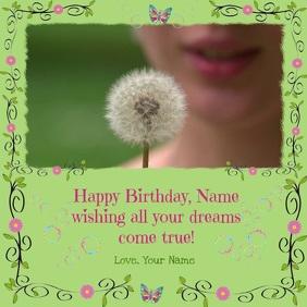 Instagram Birthday Video Card