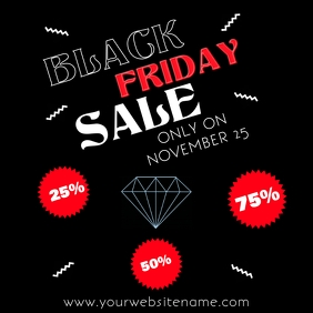 Instagram Black Friday Poster Flyer Template