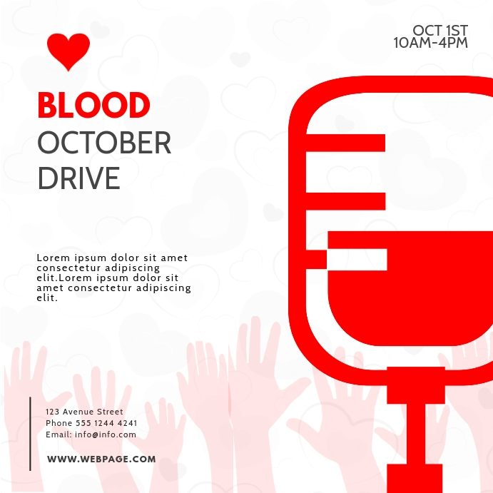 instagram Blood Drive Donation template