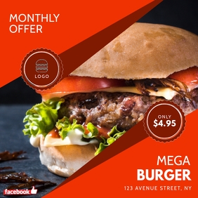 Instagram Burger Promotion Template
