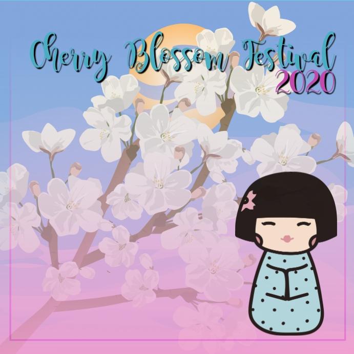 Instagram Cherry Blossom Festival 2020 template