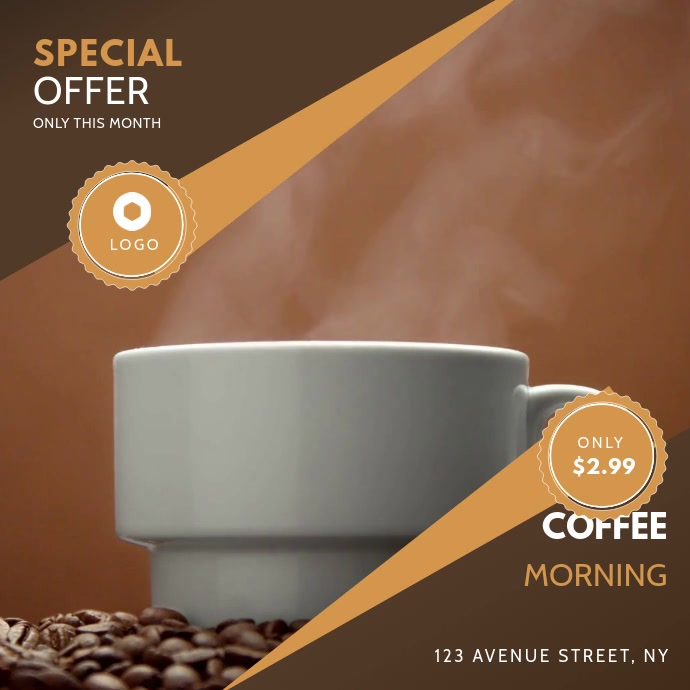 Instagram Coffee promotion ad template