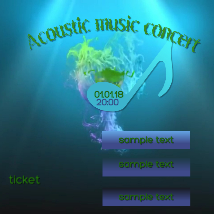 Instagram concert flyer