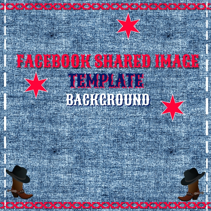 Instagram Country Western Denim Template