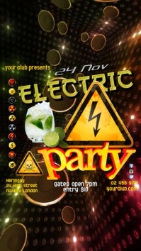 Instagram Electric Party Template