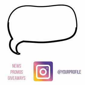 Instagram follow us animated drawing video ad