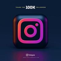 Instagram followers Greetings Instagram Post Ikhava ye-Albhamu template