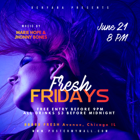 Instagram Fridays Party Square Banner Template