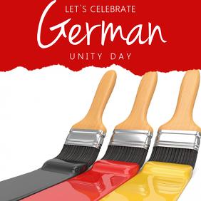 Instagram German Unity Day Template