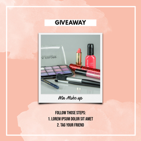 Instagram GiveAway Post template
