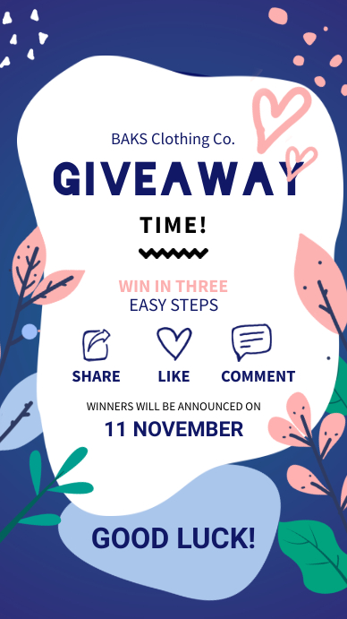 Instagram Giveaway Story Template