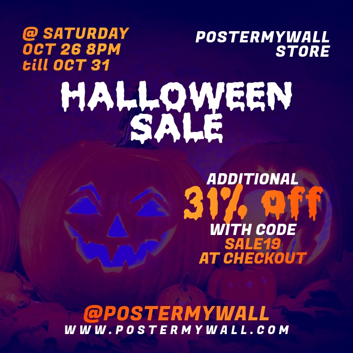 Instagram Halloween Sale Banner