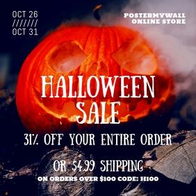 Instagram Halloween Sale Banner