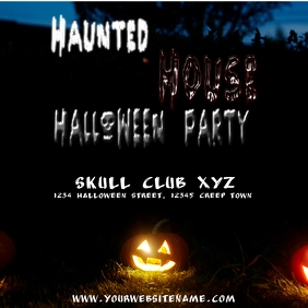Instagram Haunted House Halloween Party Flyer