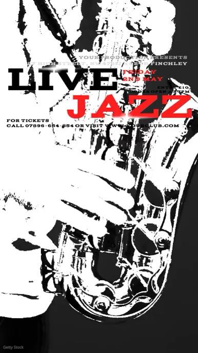 Instagram Jazz Concert Invitation