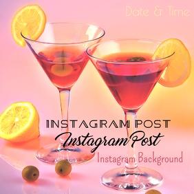 Instagram Martini Post Background