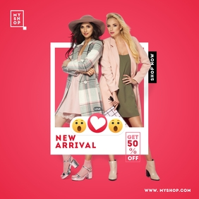 Instagram New Arrival Product Post template