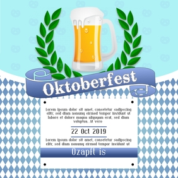 instagram Oktober fest party flyer template