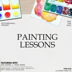 Instagram Painting event flyer template