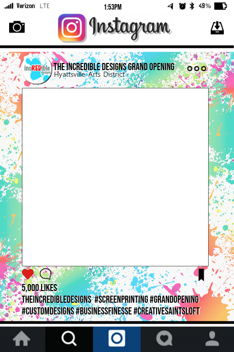 Instagram Party Frame Template | PosterMyWall