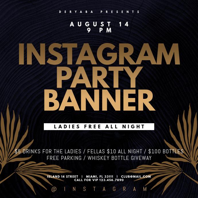 Instagram Party Instagram Banner Template