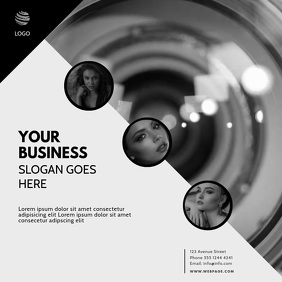 instagram photography business video template Square (1:1)