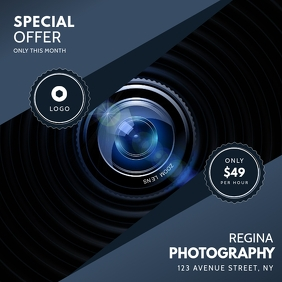 Instagram Photography service ad template