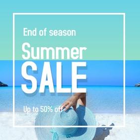 instagram post : End season summer promotion. template