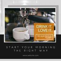 instagram post advertisement coffee template