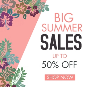 instagram post big summer sales template adve