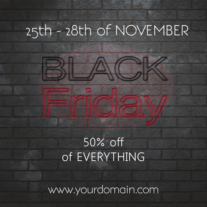 Instagram post Black friday flyer template sa