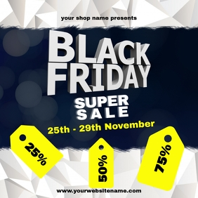 instagram post Black Friday Template sale soc