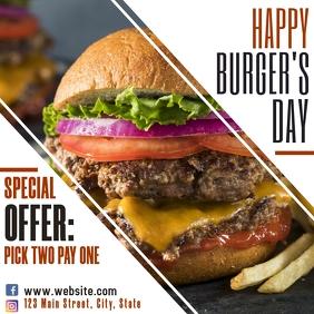 Instagram post burger's day advertisement